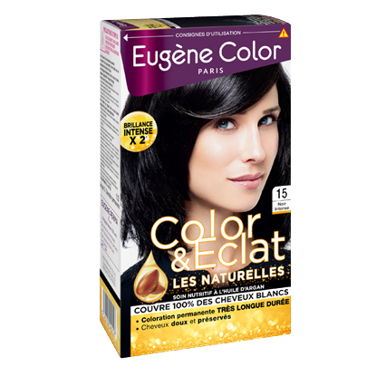 Kit de Coloration - Noir Intense 15 - Color & Eclat - Eugène Color