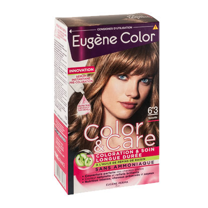 Kit de Coloration - Noisette 6*3 - Color & Care - Eugène Color