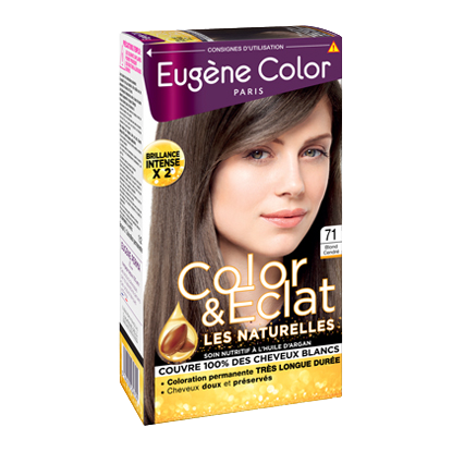 Kit de Coloration - Blond Cendré 71- Color & Eclat - Eugène Color