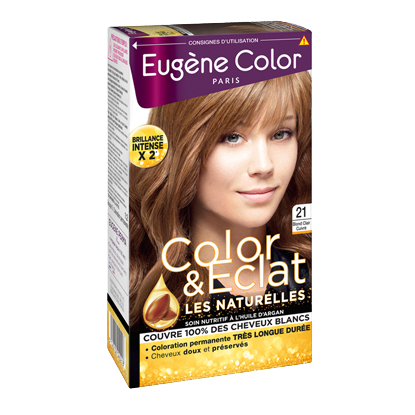Kit de Coloration - Blond Clair Cuivré 21- Color & Eclat - Eugène Color
