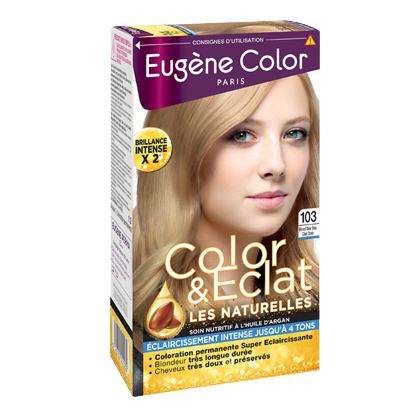 Kit de Coloration - Blond Très Très Clair Doré 103 - Color & Eclat - Eugène Color