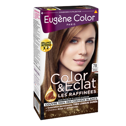 Kit de Coloration - Marron Praliné 78 - Color & Eclat - Eugène Color