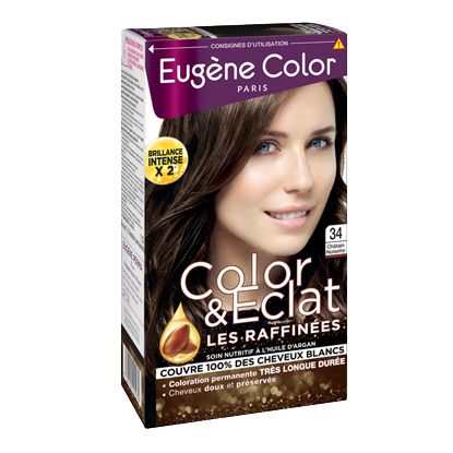 Kit de Coloration - Châtain Noisette 34 - Color & Eclat - Eugène Color