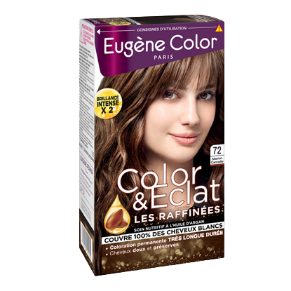 Kit de Coloration - Kit de Coloration - Marron Canelle 72 - Color & Eclat - Eugène Color
