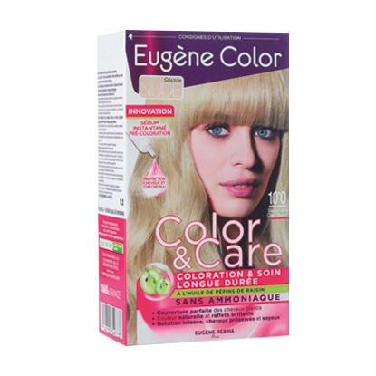 Kit de Coloration - Blond Très Clair Nude 10*0 - Color & Care - Eugène Color