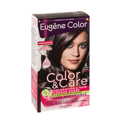 Kit de Coloration - Châtain 4 - Color & Care - Eugène Color