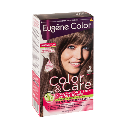 Kit de Coloration - Châtain Clair 5 - Color & Care - Eugène Color