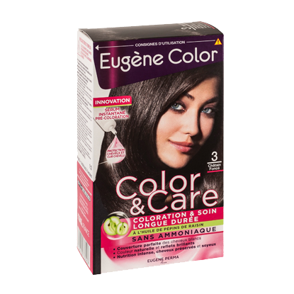 Kit de Coloration - Châtain Foncé 3 - Color & Care - Eugène Color