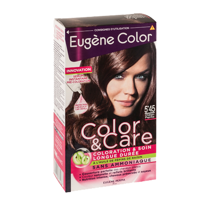Kit de Coloration - Châtain Paprika 5*45 - Color & Eclat - Eugène Color