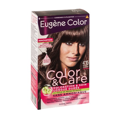Kit de Coloration - Chocolat 4*15 - Color & Care - Eugène Color