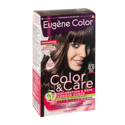 Kit de Coloration - Moka Délice 5*8 - Color & Care - Eugène Color