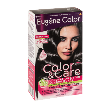 Kit de Coloration - Noir 1 - Color & Care - Eugène Color