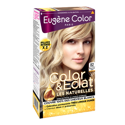 Kit de Coloration - Blond Clair Sable 82 - Color & Eclat - Eugène Color