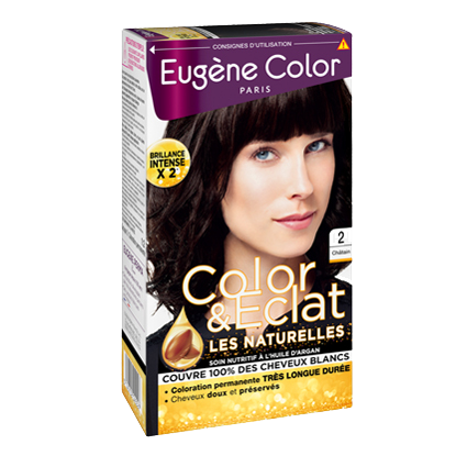 Kit de Coloration - Châtain 2 - Color & Eclat - Eugène Color