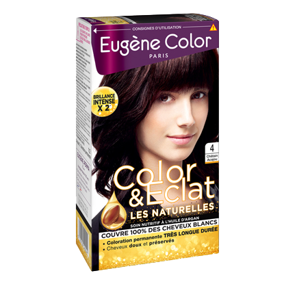 Kit de Coloration - Châtain Acajou 4 - Color & Eclat - Eugène Color