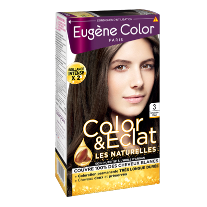 Kit de Coloration - Châtain Clair 3 - Color & Eclat - Eugène Color