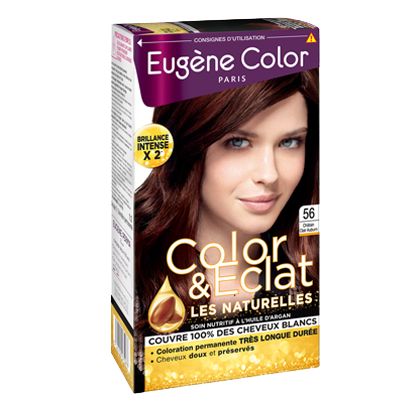 Kit de Coloration - Châtain Clair Auburn 56 - Color & Eclat - Eugène Color
