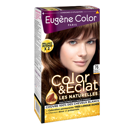 Kit de Coloration - Marron Clair Doré 76 - Color & Eclat - Eugène Color