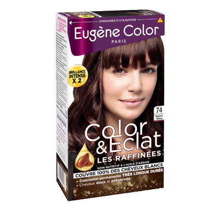 Kit de Coloration - Marron Moka 74 - Color & Eclat - Eugène Color