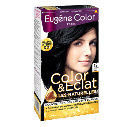 Kit de Coloration - Noir Bleu 12 - Color & Eclat - Eugène Color