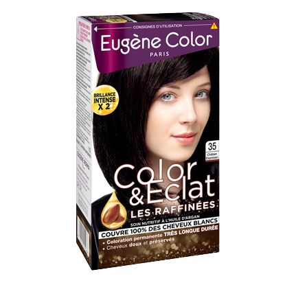 Kit de Coloration - Châtain Expresso 35 - Color & Eclat - Eugène Color