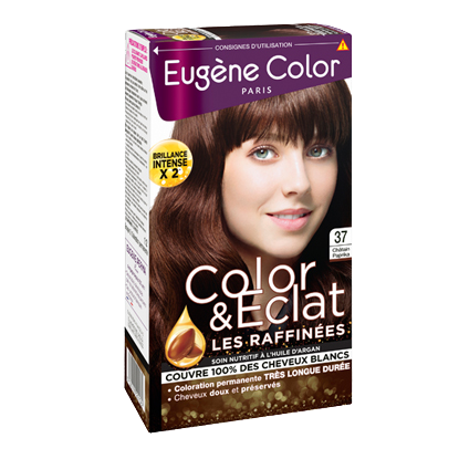 Kit de Coloration - Châtain Paprika 37 - Color & Eclat - Eugène Color