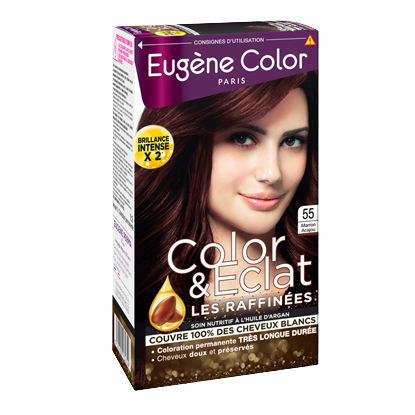 Kit de Coloration - Marron Acajou 55 - Color & Eclat - Eugène Color