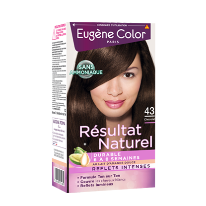 Kit de Coloration Ton sur Ton - Chocolat 43 - Résultat Naturel - Eugène Color